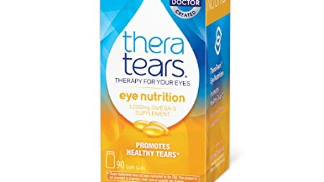 Thera Tears Nutrition, 1200 mg Omega-3 Supplement Capsules, 90 Count