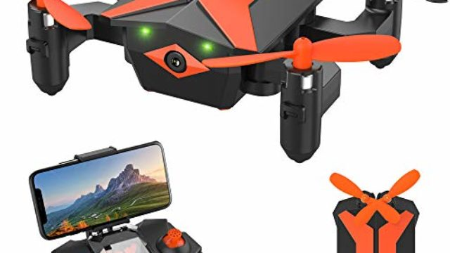 Attop Mini Drones with Camera – Portable Foldable FPV Drone with Camera for Kids & Beginners, Mini RC Drones w/Gravity Control/Voice Control/Trajectory Flight/AR Game/Altitude Hold/App Control