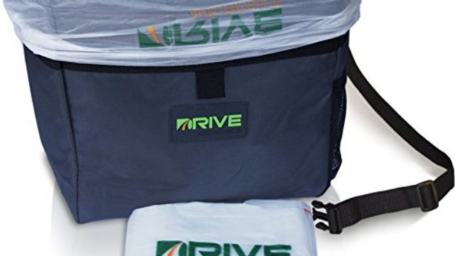 Drive Auto Products Car Garbage Can by from The Drive Bin As Seen On TV Collection, Black Strap