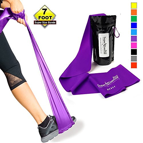 Training Bands Near Me: SUPER EXERCISE BAND Heavy PURPLE Resistance Band. Your