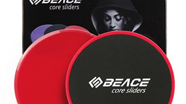 BEACE Exercise Core Sliders – Set of 2 Gliding Discs – Dual Sided for Carpet or Hardwood Floors – Total Body Workout Fitness Equipment
