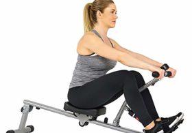 Sunny Health & Fitness SF-RW1205 12 Adjustable Resistance Rowing Machine Rower w/Digital Monitor
