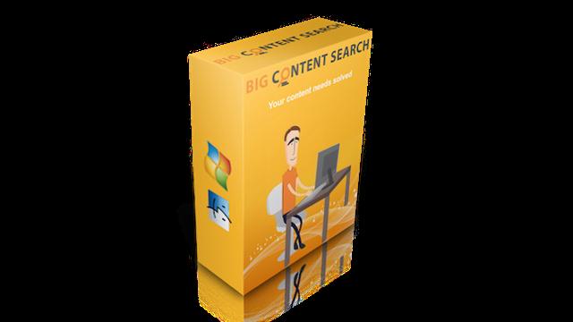 Big Content Search Review, Ratings & Bonus