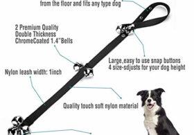 BLUETREE 2 Pack Dog Doorbells Premium Quality Training Potty Great Dog Bells Adjustable Door Bell Dog Bells for Potty Training Your Puppy The Easy Way – 7 Extra Large Loud 1.4 DoorBells