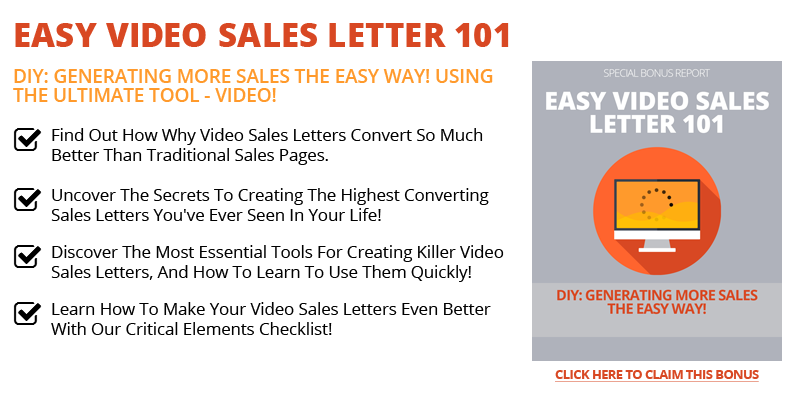 Easy Video Sales Letters 101
