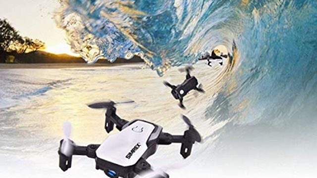 SIMREX X300C Mini Drone RC Quadcopter Foldable Altitude Hold Headless RTF 360 Degree FPV Video WiFi 720P HD Camera 6-Axis Gyro 4CH 2.4Ghz Remote Control Super Easy Fly for Training White