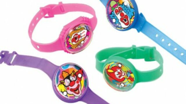 US Toy 940X28 Clown Puzzle Watches – 12 Per Pack – Pack of 28