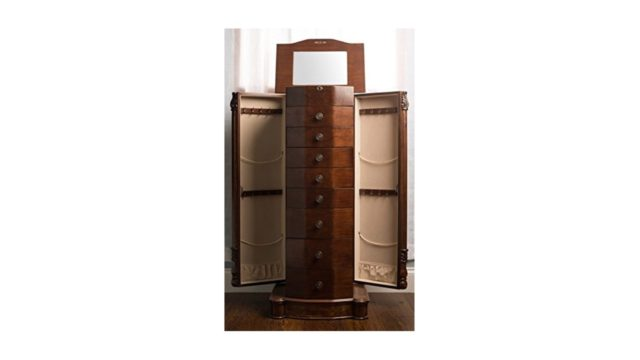 hives and honey henry iv walnut jewelry armoire review u0026 ratings