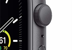New Apple Watch SE (GPS, 44mm) – Space Gray Aluminum Case with Black Sport Band