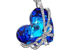 Qianse Heart of the Ocean Bowtie Pendant Necklace Review & Ratings