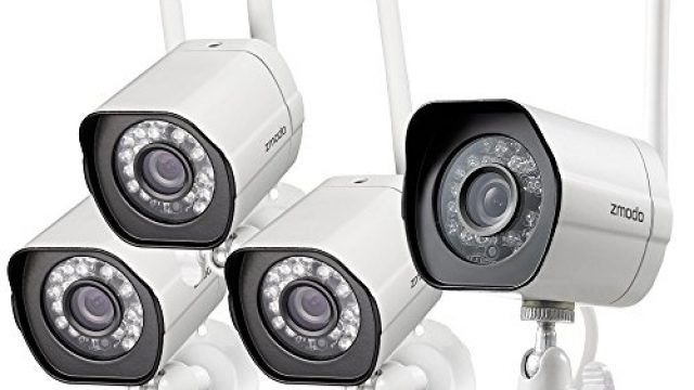 Zmodo Smart Wireless Security Cameras- 4 Pack- HD Indoor