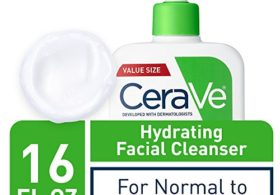 CeraVe Hydrating Facial Cleanser | Moisturizing Non-Foaming Face Wash with Hyaluronic Acid, Ceramides & Glycerin Exclusive, Unscented, 16 Fl Oz