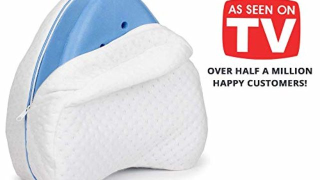 Contour Legacy Leg & Knee Memory Foam Support Pillow – Soothing Pain Relief for Sciatica, Back, Hips, Knees, Joints & Pregnancy – As Seen on TV (Original)