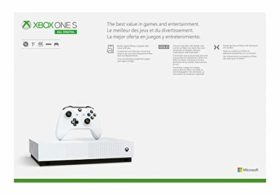 Xbox One S 1TB All-Digital Edition Console (Disc-Free Gaming) – Discontinued
