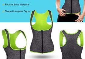 GAODI Women Waist Trainer Vest Slim Corset Neoprene Sauna Tank Top Zipper Weight Loss Body Shaper Shirt (S,Gray)