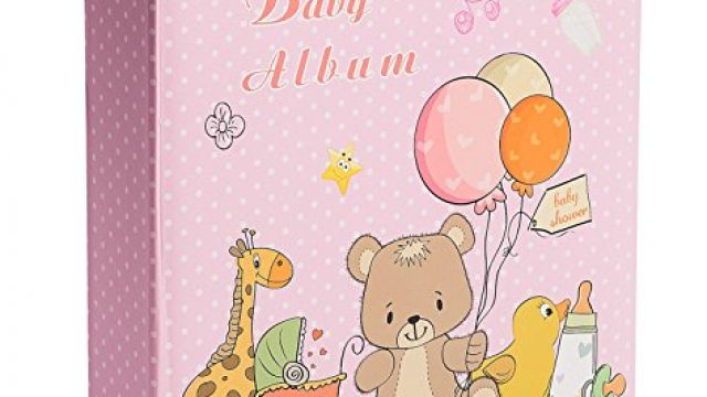 Baby Girl Photo Album – Holds 200 4×6 Inch Photos – by Bay Area Housewares