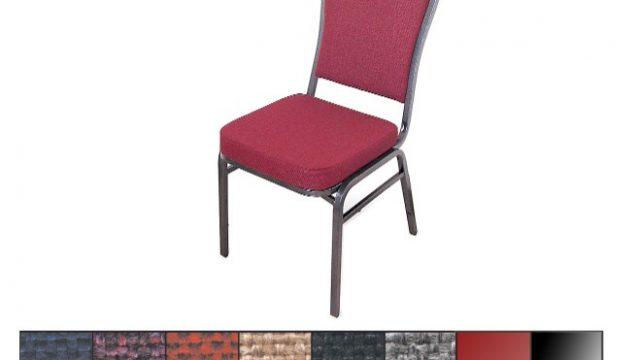 McCourt 10375 Superb Seating Stack Chair – Beige on Silvervein Frame