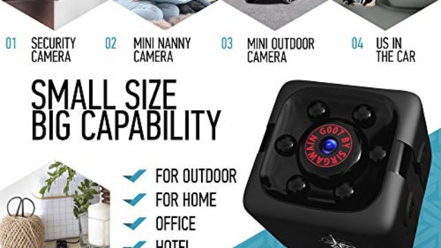 Mini Spy Camera 1080P Hidden Camera – Portable Small HD Nanny Cam with Night Vision and Motion Detection – Indoor Covert Security Camera for Home and Office – Hidden Spy Cam – Built-in Battery