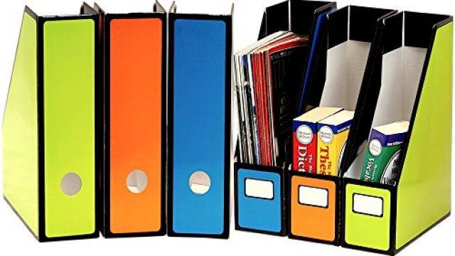 Simple Houseware Magazine File Holder Organizer Box (Pack of 6)